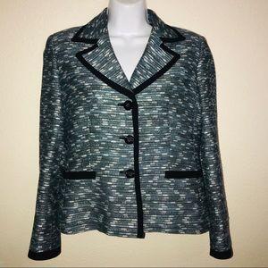 Kasper Tweed Career Suit Jacket Blazer